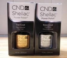 CND Shellac Nail UV Gel (Base Coat .25 oz & Top Coat .25oz)