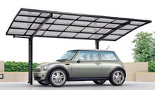 Easy to assemble aluminum metal carport for cars available in 5 colors
