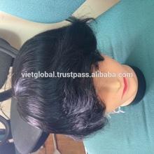vietnamese human virgin black toupee for men hair extension