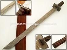 Custom Handmade Damascus Steel TANTO sword