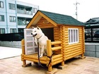 dog log cabin kits house,insulated rabbit hutches, chicken coops and dog houses (sandwich panels). export@woodua.com