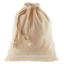 cotton laundry bag/ cotton shoe drawstring bag wholesale