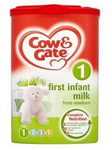 Cow & Gate First Infant Milk from Newborn Stage 1 900g (Pack of 100)