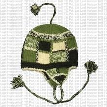 Woolen earflap hat