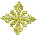 La cruz de la iglesia de bordado a mano/vestimentas cruz/liturgic cruz