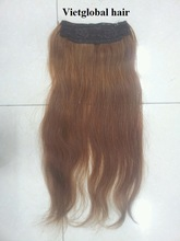 AAA grade full head top quality double drawn vietnamese remy hair 20inch flip in hair extension