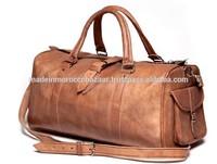 Stylish Handmade Genuine Leather Duffle Travel Bag