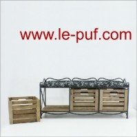 Ottoman with storage boxes ES130m