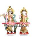 Marble radha krishna deities