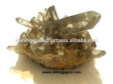 esfumaçado cristal natural cluster