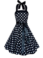 casual dress designs for sexy and beautiful girls rockabilly vintage dress(50s style rockabilly dress)