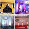 aluminum pipe and base wit clear roof wedding tent canvas backdrop