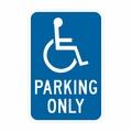 """N- 4,12"""" x18""""Il EGP,( handicap simbolo) parcheggio solo segno California spec"""