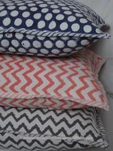 Blue Color Geometric Design Cushion Covers manufactures