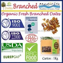 Organic Fresh Branched Dates. Fresh Deglet Noor, Organic Dates .Fresh branched Dates. 1 Kg carton
