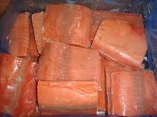 new frozen fish fillet salmon