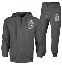 100% cotton terry fleece men track suit