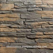 Cheap artificial light concrete ledge walling stone - Vietnamese Art cladding stone