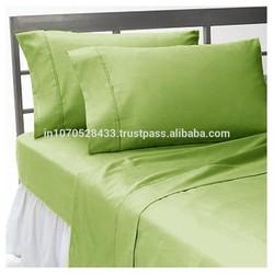 Egyptian Cotton 210 TC Bed Sheet Set Sage Solid Three Quarter (3/4) Size !