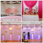 wedding crystal mandap decoration pipe and drape material