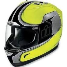Icon Alliance Full-Face Motorcycle Helmet - Hi-Viz Yellow PS