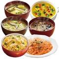 Vários tipos de delicioso frozen de sopa feito no japão para venda