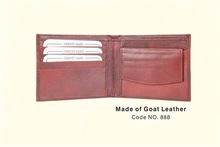 Pure Goat Leather Wallet for Business