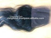Vietglobal hair virgin silk top lace front closure piece