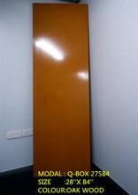 PVC SOLID PANEL DOOR OAK WOOD