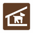 """RS-045, 6""""x6"""" HIP, Kennel, Brown Rec Sign"""