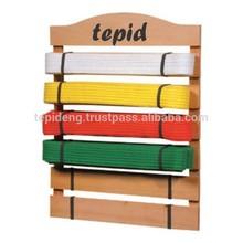 Karate/Martial Arts Belt Display Rack Holder & 10 Belts
