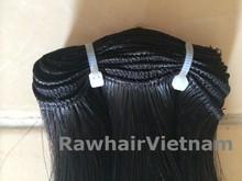 Brazilian human hair machine weft straight natural human hair high quality