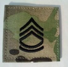 U.S. Army MultiCam Rank E7 Sergeant First Class Patch