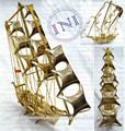 Miniatura do navio, indian sopros, instrumentos de navegação
