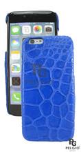 "PELGIO Genuine Crocodile Belly Skin Mobile Phone i6 4.7"" Hard Case Blue"