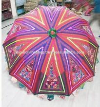 New Cheap Price Embroidered Designer Garden Umbrella