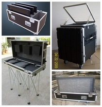 silver aluminium flight case for test equipment