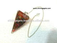 Chakra Pendulum : Chakra 6 Facet Orgone Pendulum