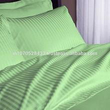 Egyptian Cotton 210TC Bed Sheet Set 6 PCs Sage Striped RV King Size !