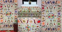 Hand embroidered suzani throw handmade suzani wall hanging
