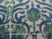 Best indian exporters of Hand block printed cotton Fabrics karni,s indian fabrics cotton block printed