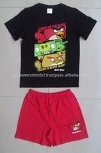 New Designer Kids Cartoon Animal Printed Cotton Pajamas set for Summer Children