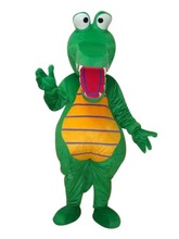 Green Fat Aligator Crocodile Mascot Costume