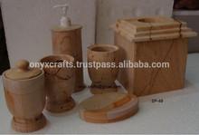 Burma Teak Wood Marble Bathroom accessories