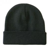 In Stock Fashion Unisex Men Women Winter Cotton/Polyester Beanie Hats Black Gray Navy