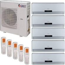 Gree Hardware +Multi Zone 42,000 BTU 3.5 Ton Ductless Mini Split Air Conditioner with Heat, Inverter, Remote - 208-230V/60hz Bei