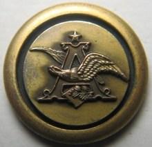 Vintage Anheuser Busch Budweiser Beer Logo Brass Coat Uniform Advertising Button