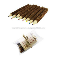 Easy to use and Fashionable import export agent Natural Taste Tamarind Wood Color Pencil for personal use , small lot order avai