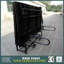 x folding stage portable folding stage , toughened glass/ acrylic/wood