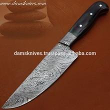 Damascus steel Chef Knife / Santoku Damascus Knife